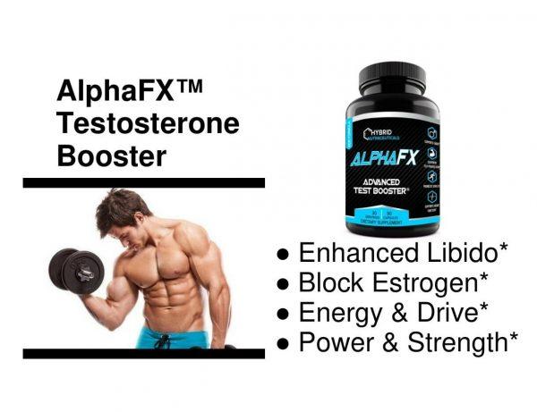 AlphaFX Testosterone Booster, Estrogen Blocker, Horny Goat Weed, Tribulus 1
