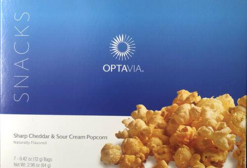 Medifast Optavia Sharp Cheddar & Sour Cream Popcorn  7 Snacks New Free Shipping
