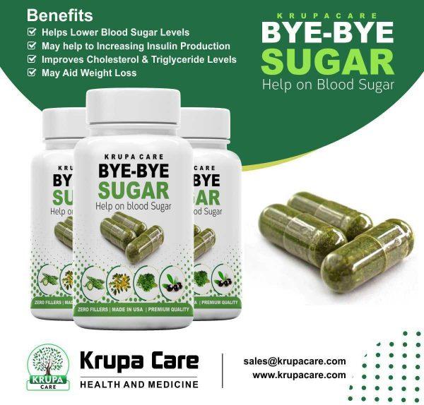 """KRUACARE"" BYE BYE Suger Help on Blood Sugar , Diabetic Supplement  60 capsuals 4"