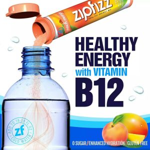 ZipFizz Healthy Energy Peach Mango Flavor 20 Tubes  1