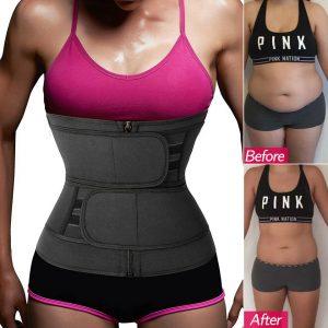 Women Waist Corset Trainer Sauna Sweat Yoga Weight Loss Body Shaper Slim Belt HW