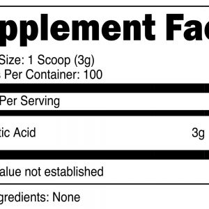 XPI Raw D-Aspartic Acid Powder 300 Grams, 100 Servings - Testosterone Support 1