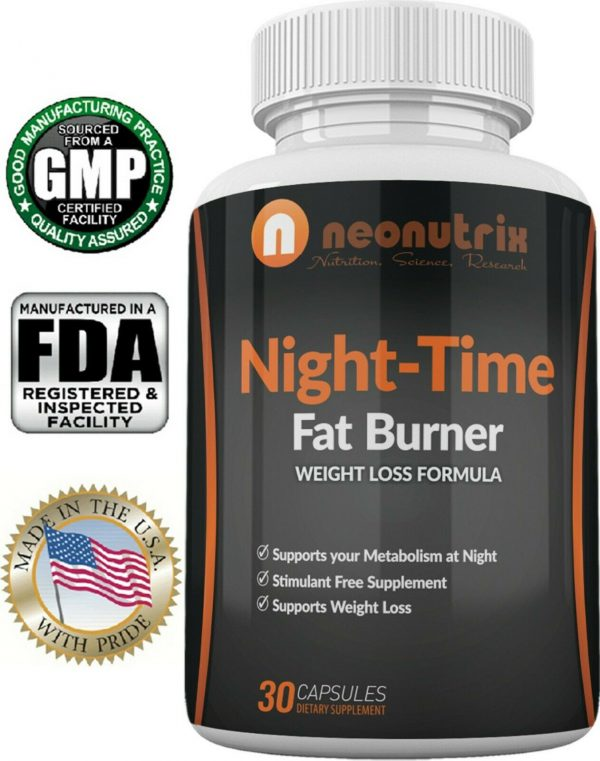 Night Time Fat Burner Weight Loss Pills for Men and Women Burn Fat
