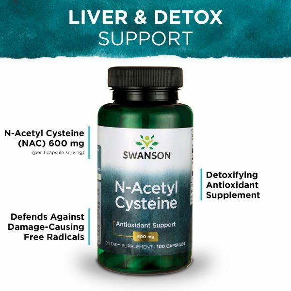 Swanson N-Acetyl Cysteine (NAC) Capsules, 600 mg, 100 Count 4