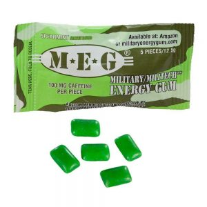 MEG - Military Energy Gum | 100mg caffeine pc | Multi Flavor 6 Pack (30 Count) 1