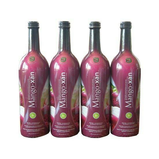 MANGOXAN Mangosteen Juice (4) single bottles 25.35oz FRESH SUPPLY & SEAL 3