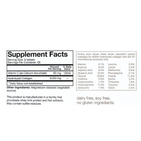 youtheory Collagen+biotin Advanced Formula 390 Tablets 6.000 mg 1