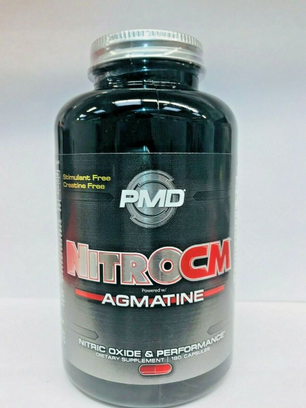 PMD NITRO CM Powered w/AGMATINE-Nitric Oxide Booster 180cap (FREE SHIPPING) 3