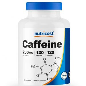 Nutricost Caffeine 200mg Pills, 120 Capsules, 120 Servings