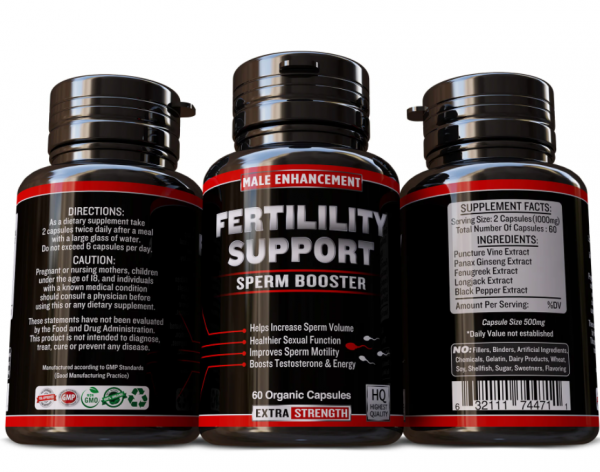 MALE FERTILITY BOOSTER CONCEPTION AID MALE SUPPORT INCREASE SPERM MOTILITY VOLUM 1