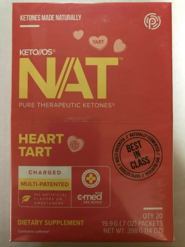 Keto Os Nat Heart Tart Charged 20 packets Diet Weight Pruvit exp 02/2022