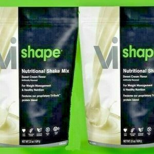2 X ViSalus Vi-Shape Sweet Cream Nutritional Shake Mix (48 Servings) EXP 2022