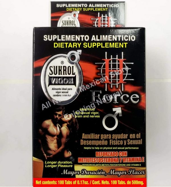 H FORCE VIGOR + DURATION + PLACER + PLEASURE + DESEMPEÑO SEXUAL 100 Tabs 1
