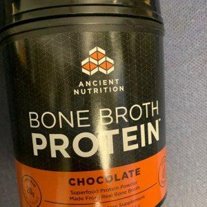 Ancient Nutrition Bone Broth Protein Powder Chocolate 17.8 oz BB 9/21+