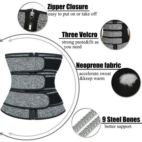 Men's Sweat Sauna Waist Trainer Weight Loss Neoprene Corset Cincher Body Shaper 3