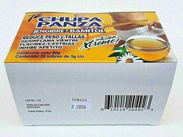 TE DE CHUPA PANZA TEA Jegibre + Bamitol 30 Bags (Accion Xtreme) Free Shipping 8