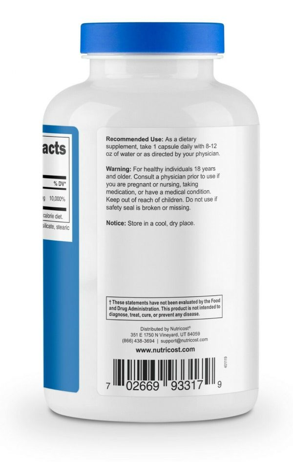 Nutricost Pantothenic Acid (Vitamin B5) 500mg, 240 Capsules - High Quality 4