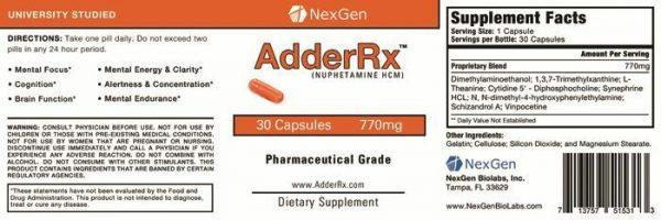 AdderRx -New Extra Strength Rx Grade ADD/ADHD Increase Mental Focus & Energy 1