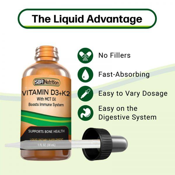 MAX ABSORPTION Vitamin D3 + K2 (MK-7) Liquid Drops, MCT Oil, 1000 svgs, 1 fl oz 6