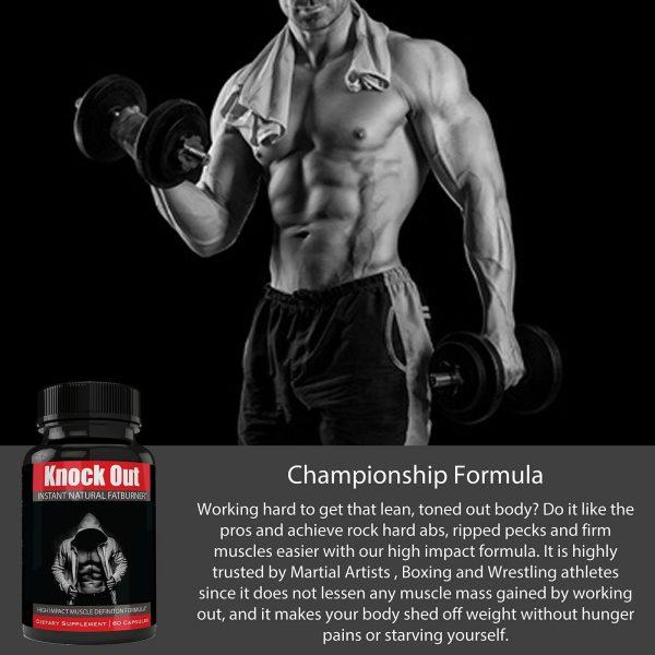 Instant Knockout Fat Burner Diet Supplement Pill for Men and Women - High Imp... 4