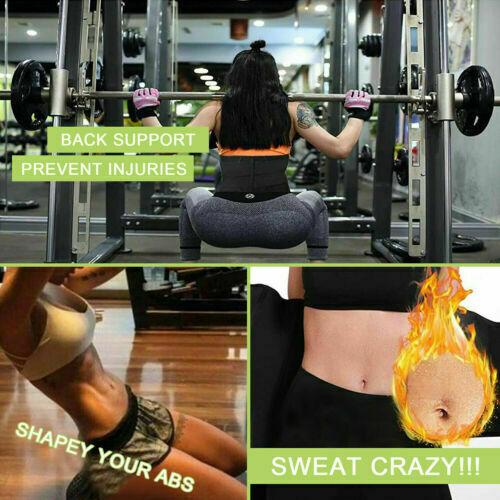 Women Waist Corset Trainer Sauna Sweat Yoga Weight Loss Body Shaper Trimmer Belt 6