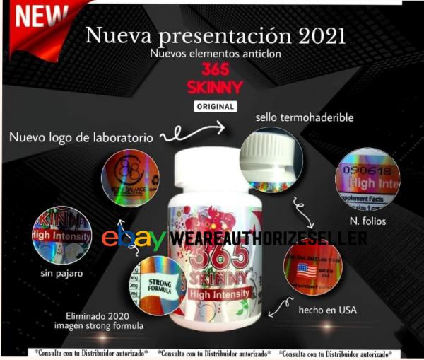 2 Bottles of 365 Skinny High Intensity Authorize Diet pills supplement 3