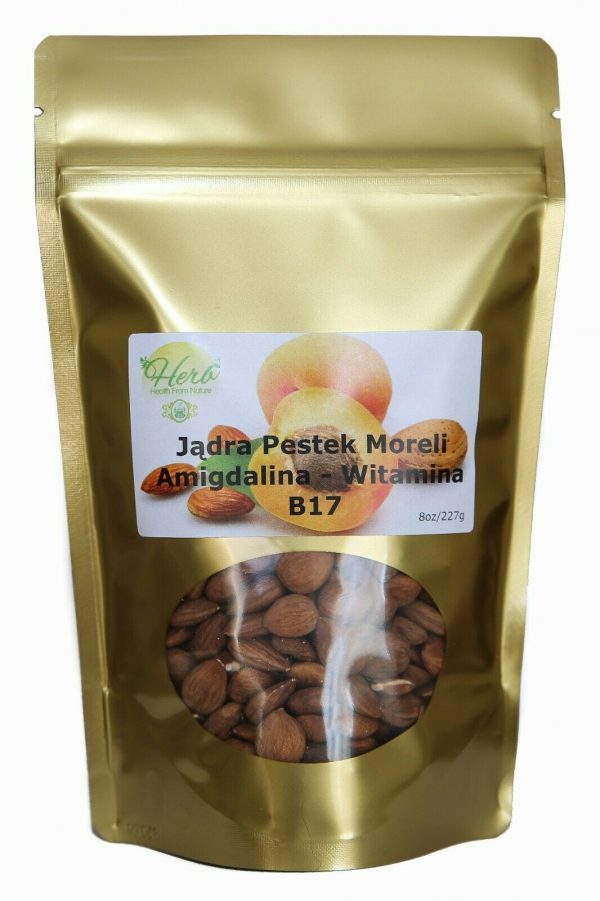 Bitter Raw Apricot Kernels Seeds - 8 oz B-17 AMYGDALIN SUPER SEED - HERB Health