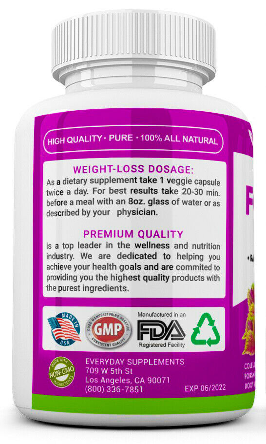 3 x Forskolin Maximum Strength 100% Pure 3400mg Rapid Results Forskolin Extract 3
