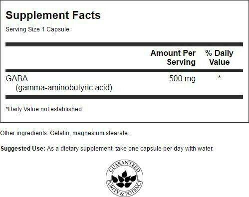 Swanson Gaba 500 mg 100 Capsules 1