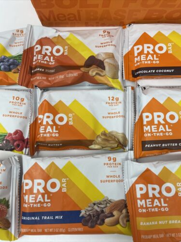 PROBAR Meal Bar Variety Pack Non-GMO Gluten-Free Healthy Plant-Based Exp 04/2021 2