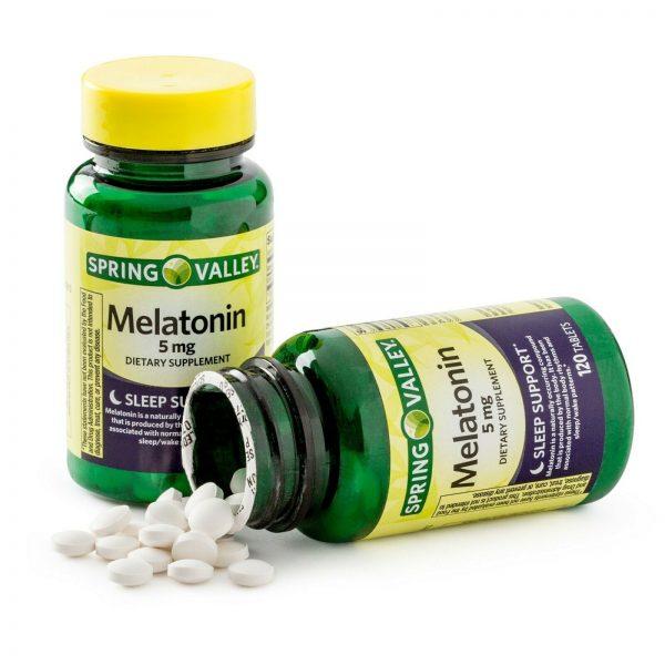 New Spring Valley Melatonin Tablets 5 mg 120 Ct 2 Pack 1