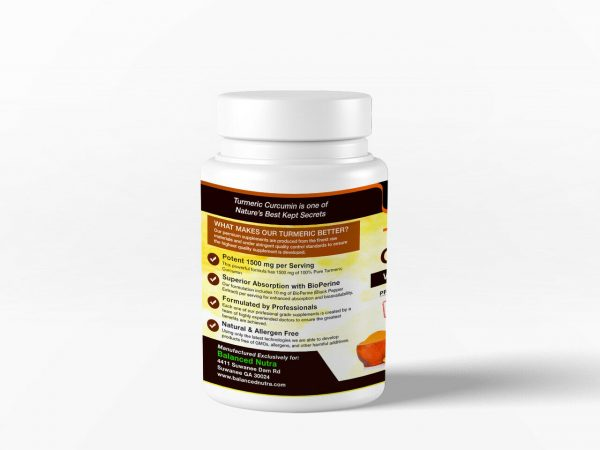 Best Selling Turmeric Curcumin with Bioperine Black Pepper 1500mg Extra Strength 3