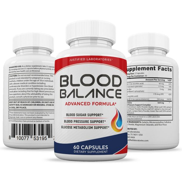 Blood Balance Advanced Formula Cholesterol Blood Sugar Pressure Support 2 Pack 4