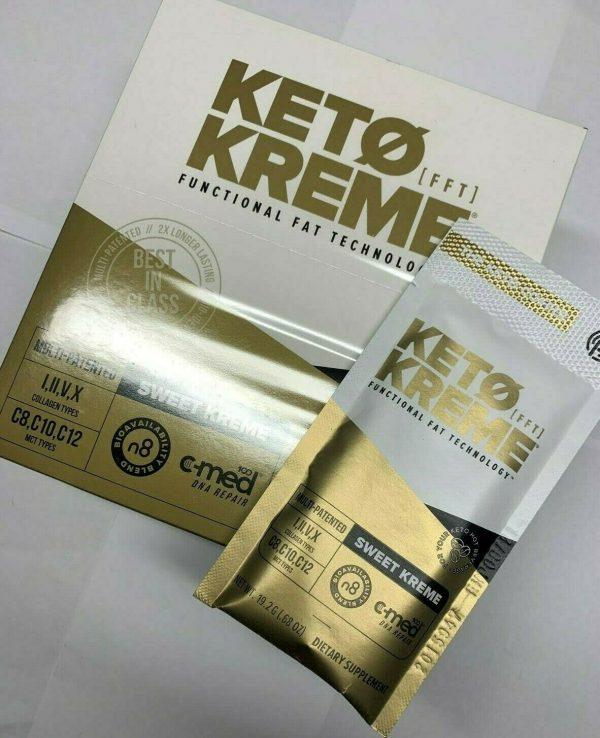 Pruvit Keto Kreme -With Functional Fat Technology (FTT) 20 Packets,BRAND NEW!! 2