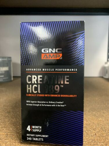 GNC AMP Creatine HCl 189 240 Tablets Fast Free Shipping