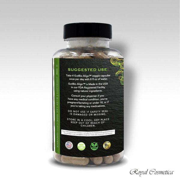 GutBio Align Prebiotics & Postbiotics Digestive Supplement 120 Caps by KaraMD 1