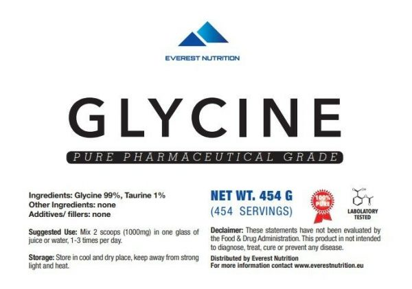 GLYCINE POWDER  100% PURE PHARMACEUTICAL GRADE, NEUROTRANSMITTER, ELEVATE ENERGY 1