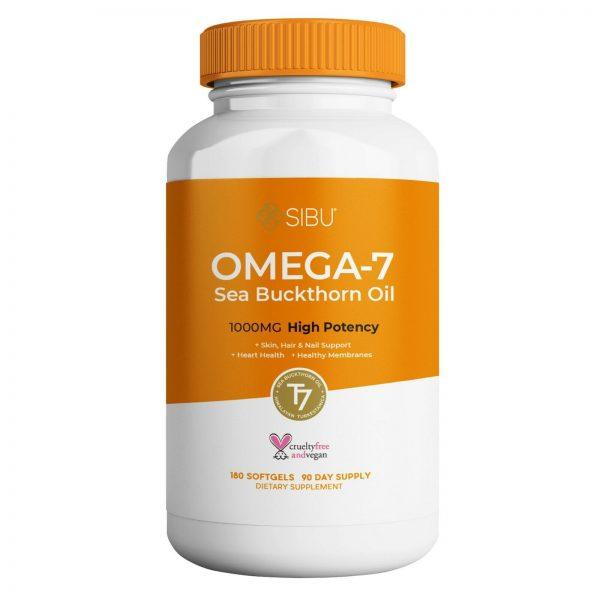SIBU Omega 7 Sea Buckthorn Oil, 180 Soft gels