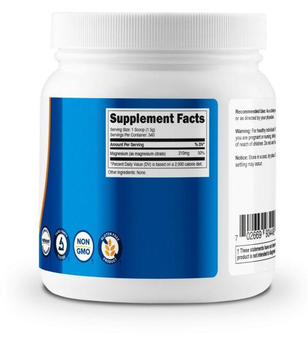 Nutricost Magnesium Citrate Powder (500 Grams) (Unflavored) - Non-GMO 3