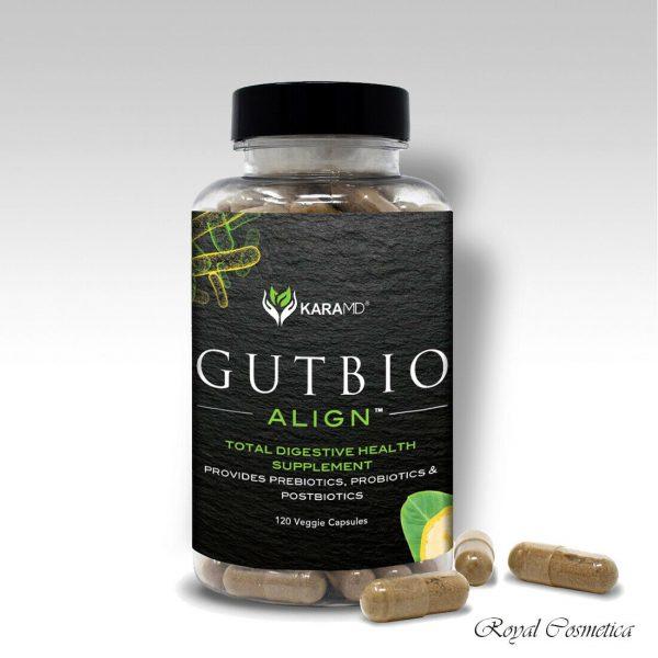 GutBio Align Prebiotics & Postbiotics Digestive Supplement 120 Caps by KaraMD
