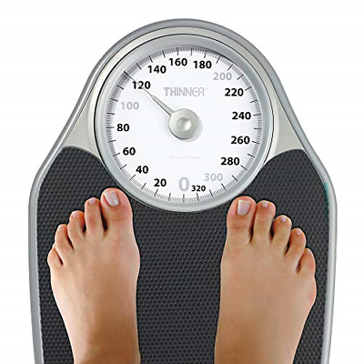 Thinner Extra-Large Dial Analog Precision Bathroom Scale, Analog Bath Scale, Up 5