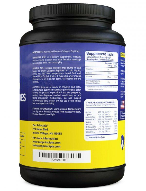 Grass-Fed Collagen Peptides Hydrolyzed 3 lb 1