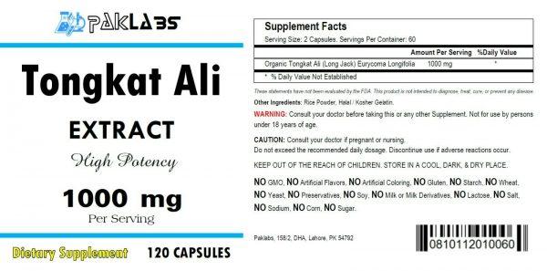 Tongkat Ali 1000mg High Potency 120 Capsules Eurycoma Longifolia Longjack 1