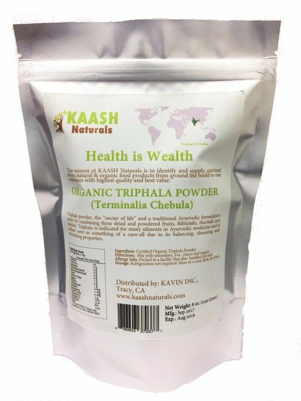 TRIPHALA POWDER 100% Natural Raw,Gluten Free,USDA Certified Organic 1