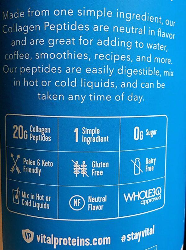 Vital Proteins Collagen Peptides Unflavored 24 oz (680 g) 2