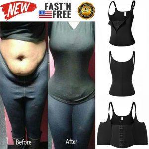 Plus Size Shapewear Fat Burn Weight Loss Waist Trainer Body Shaper Vest Tank Top