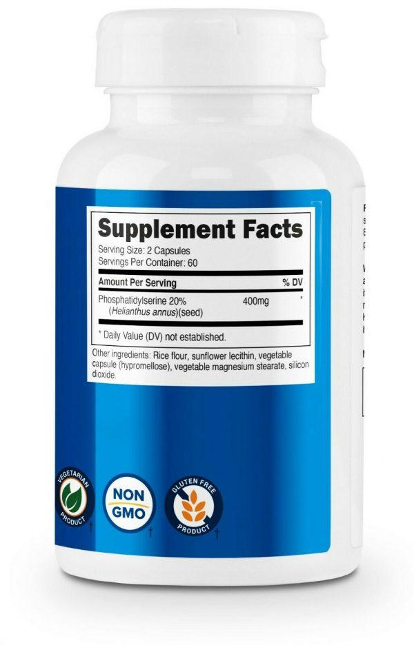 Nutricost Phosphatidylserine 400mg, 120 Capsules, 60 Servings, Soy Free  3