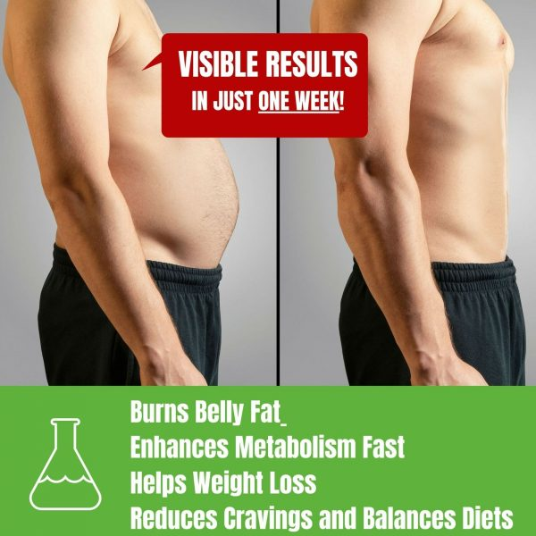 Belly Fat Burner Drops to Lose Stomach Fat - Weight Loss Supplement, Men & Women 3