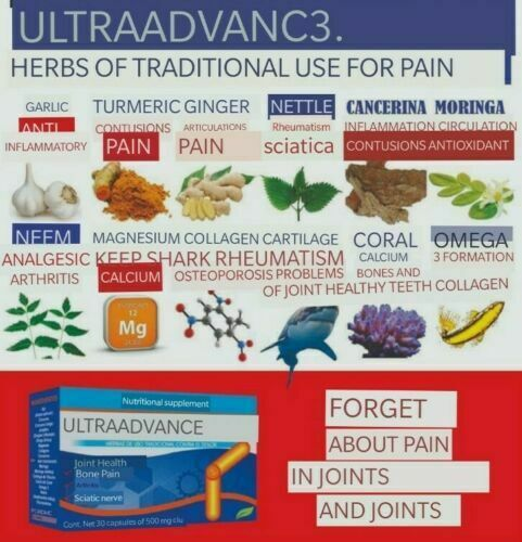ULTRA ADVANCE 3 Arthritis Joint Pain Reumatism 30 caps ORIGINAL, CURCUMA JINGER 5