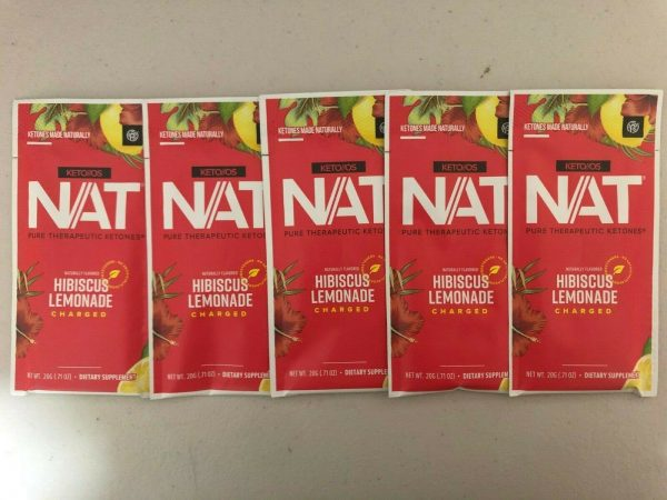 Pruvit Keto OS NAT Hibiscus Lemonade Charged 5, 10 & 20 Packs Free Shipping! 2